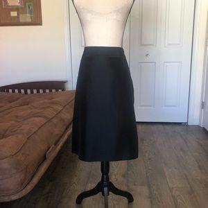 ANN TAYLOR dressy black silk skirt